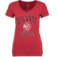 official photos 03187 64a61 Atlanta Hawks  47 Women s Current Day Primary Logo Scrum V-Neck T-Shirt -  Red