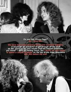 Robert Plant and Jimmy Page Great Bands, Cool Bands, Robert Plant Quotes, Back Door Man, El Rock And Roll, Page And Plant, Planting For Kids, Jimmy Page, Jimmy Jimmy