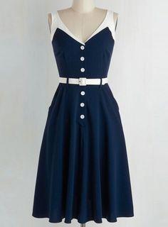 Stylish V-Neck Sleeveless Spliced Button Design Dress For Women