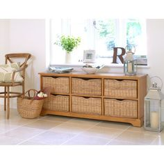 Farmhouse Natural 6 Drawer Chest, storage, lounge, sitting room, living room