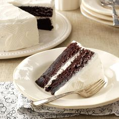 Moist Chocolate Cake Recipe -The cake reminds me of my grandmother, because it was one of her specialties. I bake it often for family parties, and it always brings back fond memories. The cake is light and airy with a delicious chocolate taste. This recipe is a keeper! —Patricia Kreitz, Richland, Pennsylvania