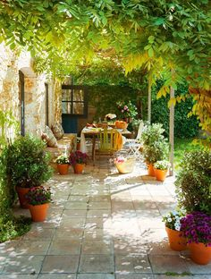 Love this dreamy outdoor patio garden средиземноморский сад,