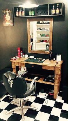 healthy people 2020 goals for the elderly home jobs nyc Barber Shop Interior, Barber Shop Decor, Barber Store, Ideas Para Logos, Barbershop Design, Barbershop Ideas, Home Salon, Salon Design, Beauty Shop