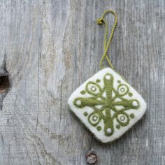 Pin cushion / pillow needle felted ornament home by AgnesFelt