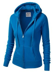 960e8ab95442 MBJ Womens Active Soft Zip Up Fleece Hoodie Sweater Jacket ❤ liked ...