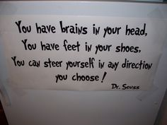 You have brains in your head Dr Seuss Vinyl by CasaBellaVinyl, $12.99