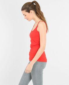 Camiseta de tirantes básica rojo