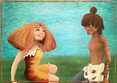 Chilling in tomorrow (Eep and Guy, the Croods) by irina-bourry.deviantart.com on @deviantART