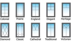 decorative grills or mullions for windows
