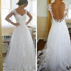 Flowing flower wedding dress