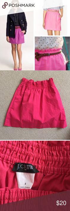 J. Crew hot pink City Mini skirt Excellent used condition city mini skirt from J. Crew! 100% cotton. No flaws. J. Crew Skirts Mini