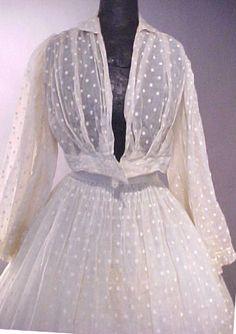 Civil War era sheer gown