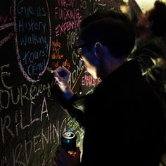 Idea-bombing is a fast, cheap, and efficient way to crowdsource thoughts from the community on local Placemaking possibilities. The blackboard here comes from a brainstorming event in Sydney, Australia. #Placemaking #LQC #IdeaBombing