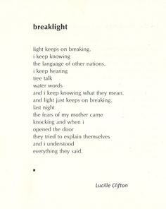 "from ""An Ordinary Woman"" by Lucille Clifton"