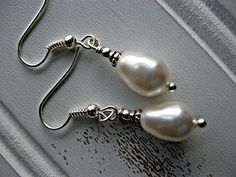 pearls  bead caps  small round beads  earring wire  ball-end head pins