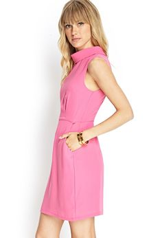 Pin for Later: Want a Cooler Dress? Just Add Pockets Forever 21 Funnel-Neck Sheath Dress Forever 21 Funnel-Neck Sheath Dress ($23)
