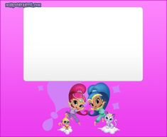 Shimmer Y Shine, Projects To Try, Ideas, Fictional Characters, Art, Birthday Invitations, Free Printable, Disney Scrapbook, Frames