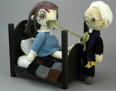 "Amigurumi Exorcist ""playset"" by Croshame"