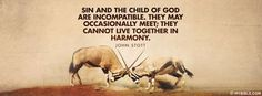 Sin And The Child Of God Are Incompatible - Facebook Cover Photo