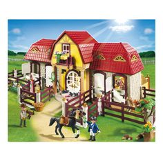 PLAYMOBIL Large Horse Farm with Paddock | Kids Cool Toys