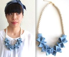 beautiful Origami inspired necklace