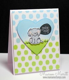 Card design by Maureen Merritt. Also Featured: Unforgettable companion die, Bubble Talk and Borders & Backgrounds1 stamp sets and Clear Cut Stackers: Hearts.