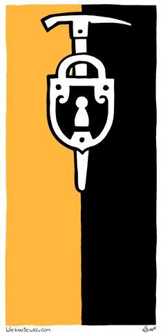 Guild sign: Mineurs (Miners Guild), commission from GamesnStuff.com, Niels Vergouwen Watkanjewel.com