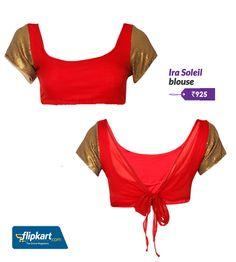 Sequined sari blouse #Desigirl #DiwaliStyle #DesiStyle