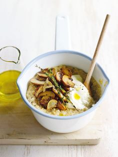 Mushroom Quinoa and thyme risotto - http://www.yourdailychef.com/mushroom-quinoa-and-thyme-risotto/