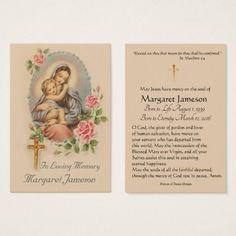 Personalized Catholic Funeral Memorial Holy Card -  $27.60  by ShowerOfRoses  - cyo customize personalize diy idea