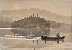 Winslow Homer (US 1836–1910) Two Men in a Canoe (1895)