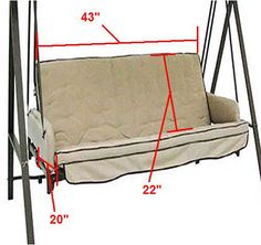 Universal Replacement Swing Cushion Small