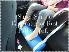 PATTERN Kids Car Seat Foot Rest Protects little legs from dangling Tutorial Pattern pdf file w photos Crafts For 2 Year Olds, 7 Year Olds, Road Trip With Kids, Travel With Kids, Family Road Trips, Toddler Car, Fun Diy Crafts, Foot Rest, Childcare