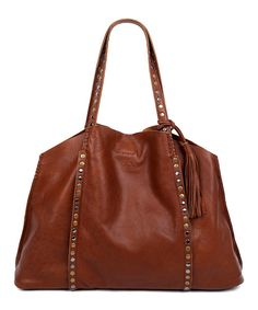 Look at this OLD TREND Camel Burch Leather Tote on #zulily today!
