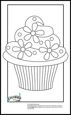 """iColor """"Cupcakes"""" ~ A cupcake with flowers..ahhh.."""