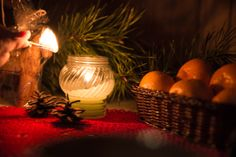 Cosy New Year with candles