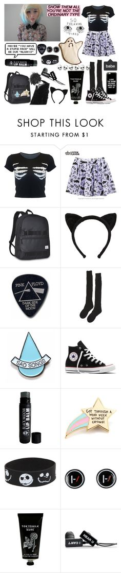 """""""lame set but it describes me perfectly so..."""" by nefelisas ❤ liked on Polyvore featuring Everest, Floyd, Samantha Holmes, Stay Home Club, Converse, PINTRILL, Disney, TokyoMilk and Casetify"""
