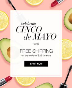Use #couponcode CINCO and get #freeshipping on your order of $25 or more at www.deannasbeautyshop.com, Expires midnight 5/5/16. #cincodemayo