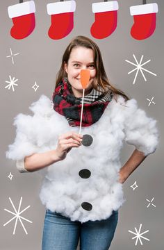 christmas costumes contest 6 Ridiculous DIYs That Will Win Christmas Jumper Day Hands . Read more The post 6 Ridiculous DIYs That Will Win Christmas Jumper Day Hands Down appeared first on How To Be Trendy. Christmas Dress Up, Diy Ugly Christmas Sweater, Tacky Christmas Sweater, Christmas Jumpers, Christmas Ideas, Christmas Scenes, Christmas Parties, Christmas Design, Christmas Stuff