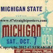 Michigan football coasters, football ticket coasters.  http://www.michiganfootballgifts.com/ Michigan football gifts