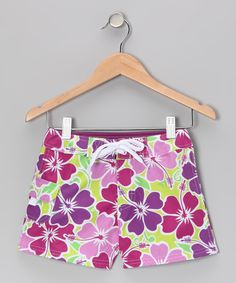 Take a look at this Purple Florence Boardshorts - Girls on zulily today!