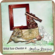 Printable Scrapbooking Wild Sea Cluster 4 (PU/S4H) by Digidesignresort