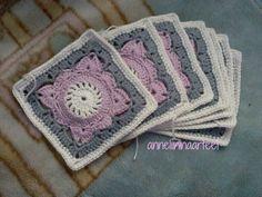 Crochet Squares, Crochet Granny, Granny Squares, Crotchet, Knit Crochet, Square Blanket, Crochet Patterns, Crochet Ideas, Mandala