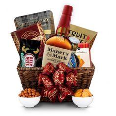 Maker's Mark Bourbon Gourmet Gift Basket | spiritedgifts.com