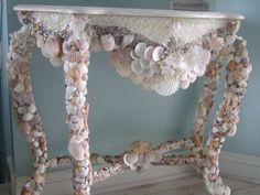 Sea Shell Mirror and Console Project