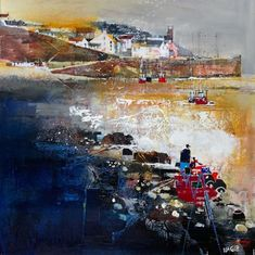 Crail Harbour in the East Neuk of Fife - Scotland Art Gallery - Painting by Surrey Artist Nagib Karsan (Cranleigh Art Group, Dorking Art Group & Guildford Art Group) - Painting Commissions Invited
