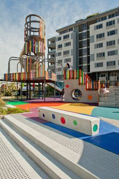 Wulaba Park by Sturt Noble Associates « Landscape Architecture Works Modern Playground, Playground Design, Backyard Playground, Children Playground, Contemporary Landscape, Urban Landscape, Landscape Design, Cool Playgrounds, Urban Ideas