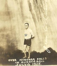 Jean Lussier Daredevil Over Niagara Falls In by TheOldBarnDoor, $6.00