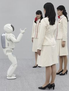 ASIMO listening to Japanese ladies