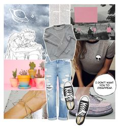 """""""Space and Time"""" by emma-beattie ❤ liked on Polyvore featuring Genetic Denim, American Apparel, Converse and Minor Obsessions"""